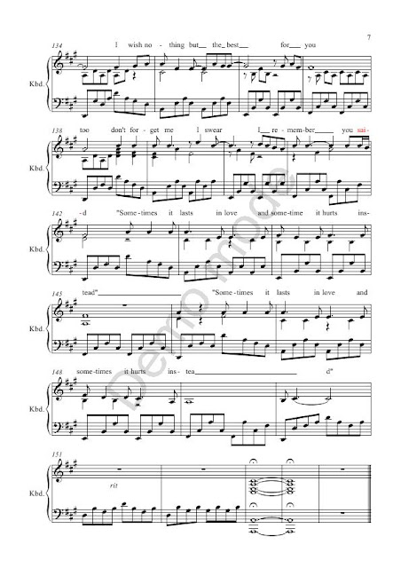 Someone Like You Piano Letters