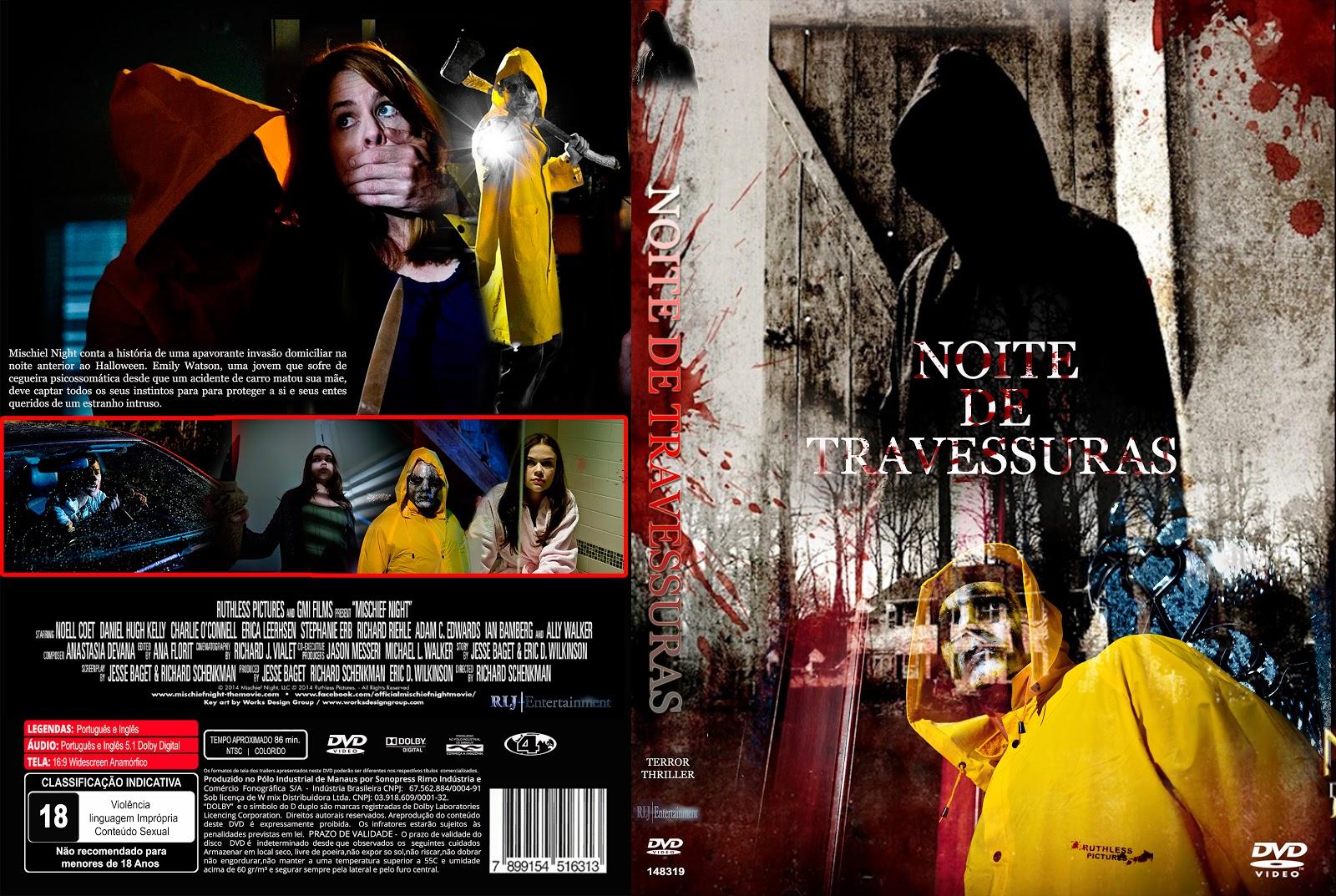 Capa DVD Noite De Travessuras