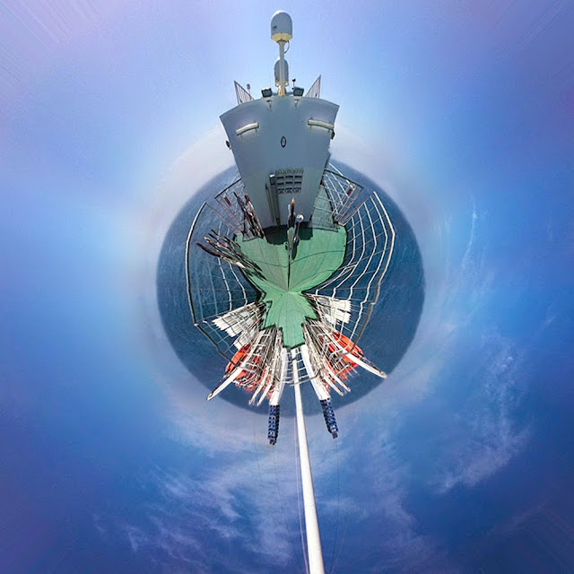 Stereograpic projection 360 degrees M.V. Barfleur