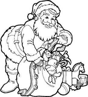 Dibujos de Santa Claus para Pintar, parte 4