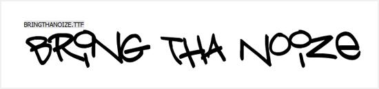 Free Graffiti Fonts - Bring Tha Noize
