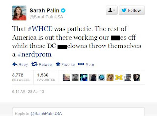 Sarah Palin, Nerd Prom Comment, Nerd Prom, twitter