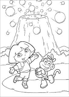 coloriage dora l'exploratrice à imprimer et colorier