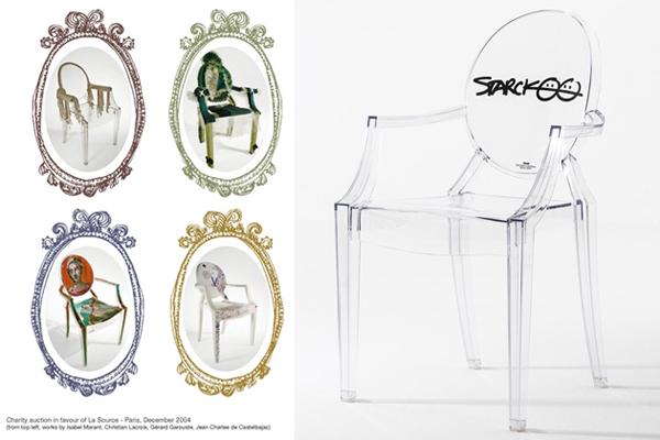 I Portacandele Di Philippe Starck Per Kartell : Anni per louis ghost di kartell