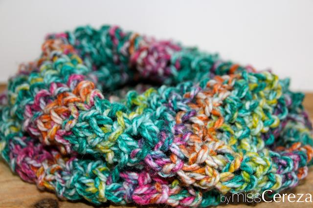 diy bufanda de colores