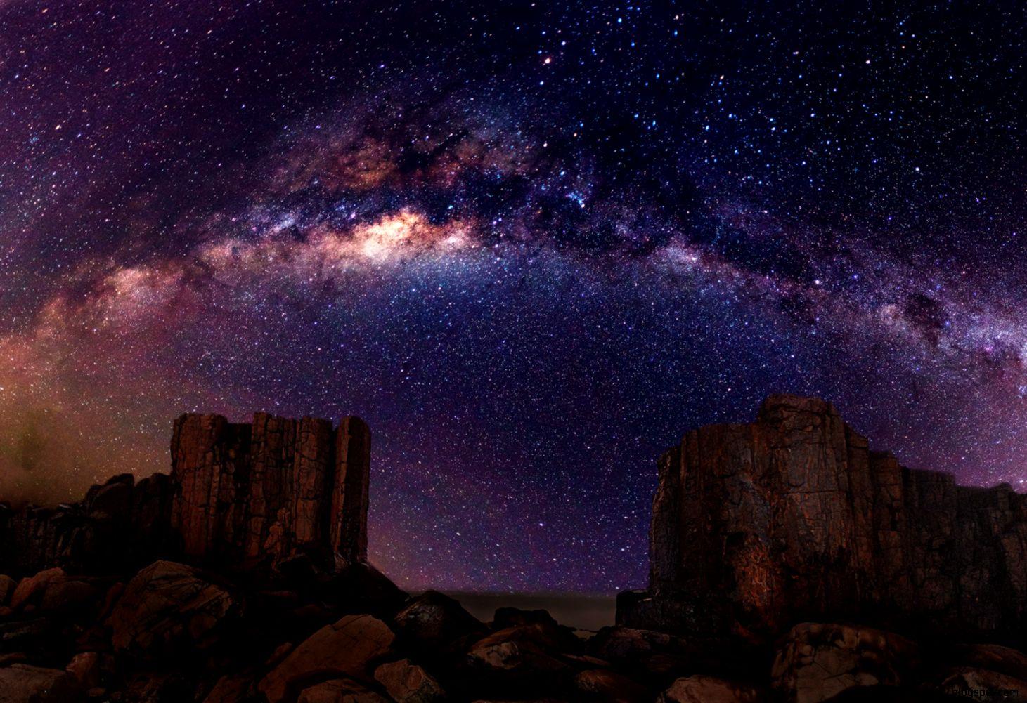 Dusk Sky Stars   wallpaper