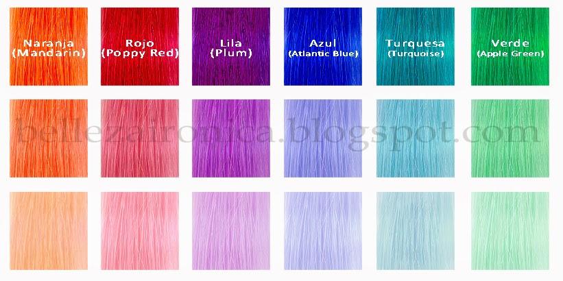 Baño Color Azul Pelo: puedes mezclaros entre ellos si no encuentras un color específico