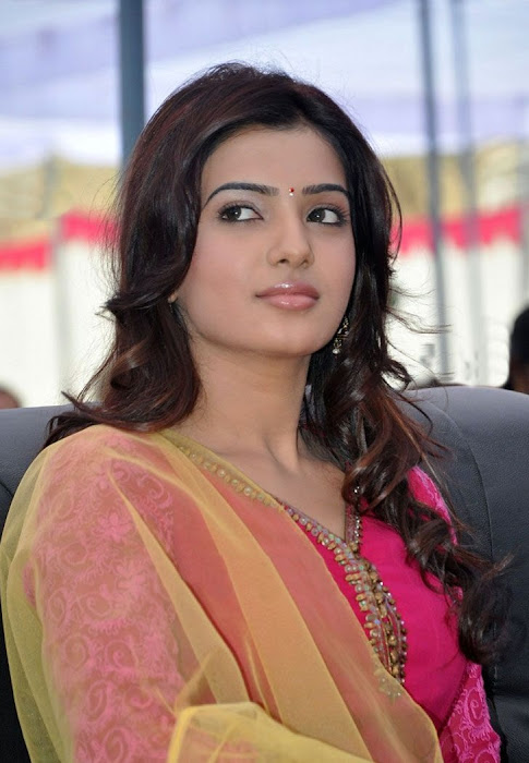 samantha beautiful in pink churidar unseen pics
