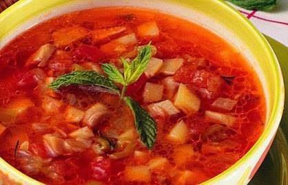 Sebzeli Soğuk Çorba Tarifi
