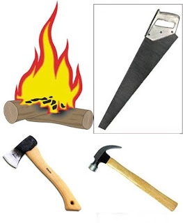 Palu, Gergaji, Kapak dan Nyala Api