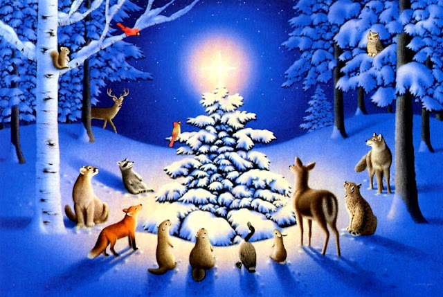 christmas animals christmas tree pictures