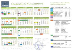 CALENDARIO ESCOLAR CIUDAD REAL