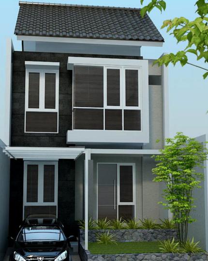 inspirasi model rumah minimalis terbaru 2 lantai type 21