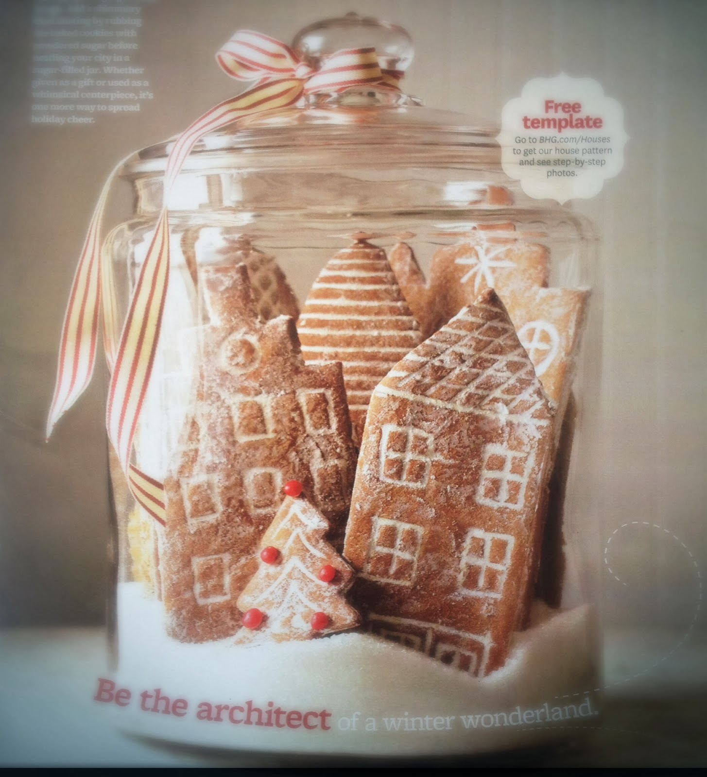 Snowy Gingerbread Village from Better Homes & Gardens