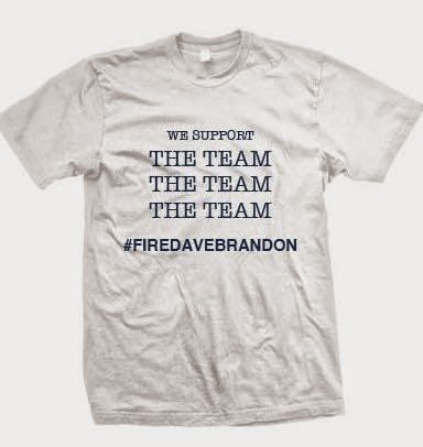 Yes, there are t-shirts calling for Michigan AD Dave Brandon to be fired.