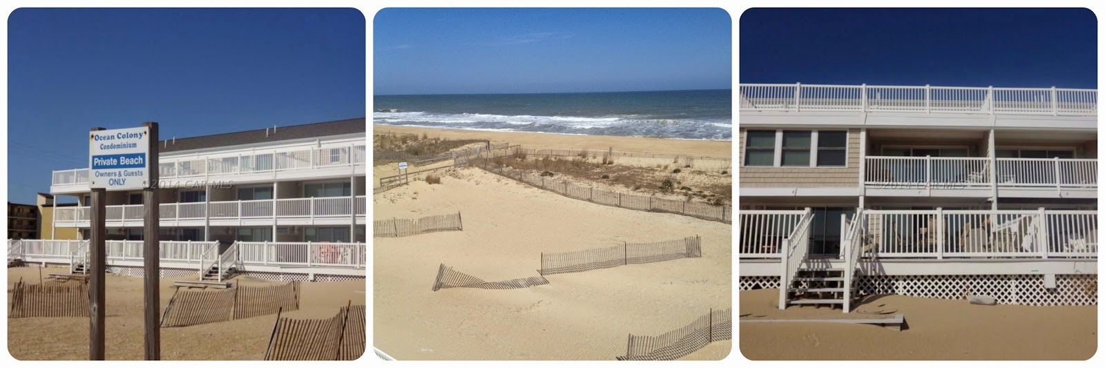 Your own private beach at Ocean Colony 7 www.condoinoceancitymaryland.com