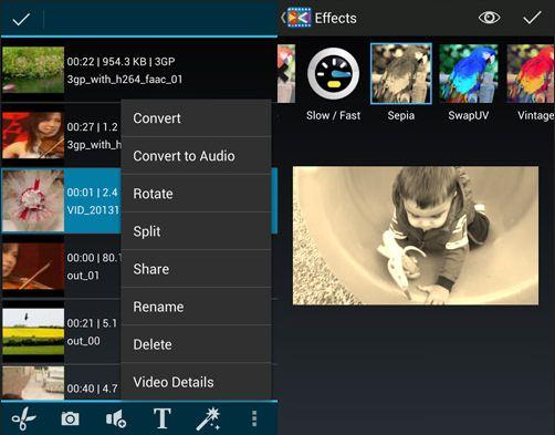 Aplikasi edit video android - androvid video editor