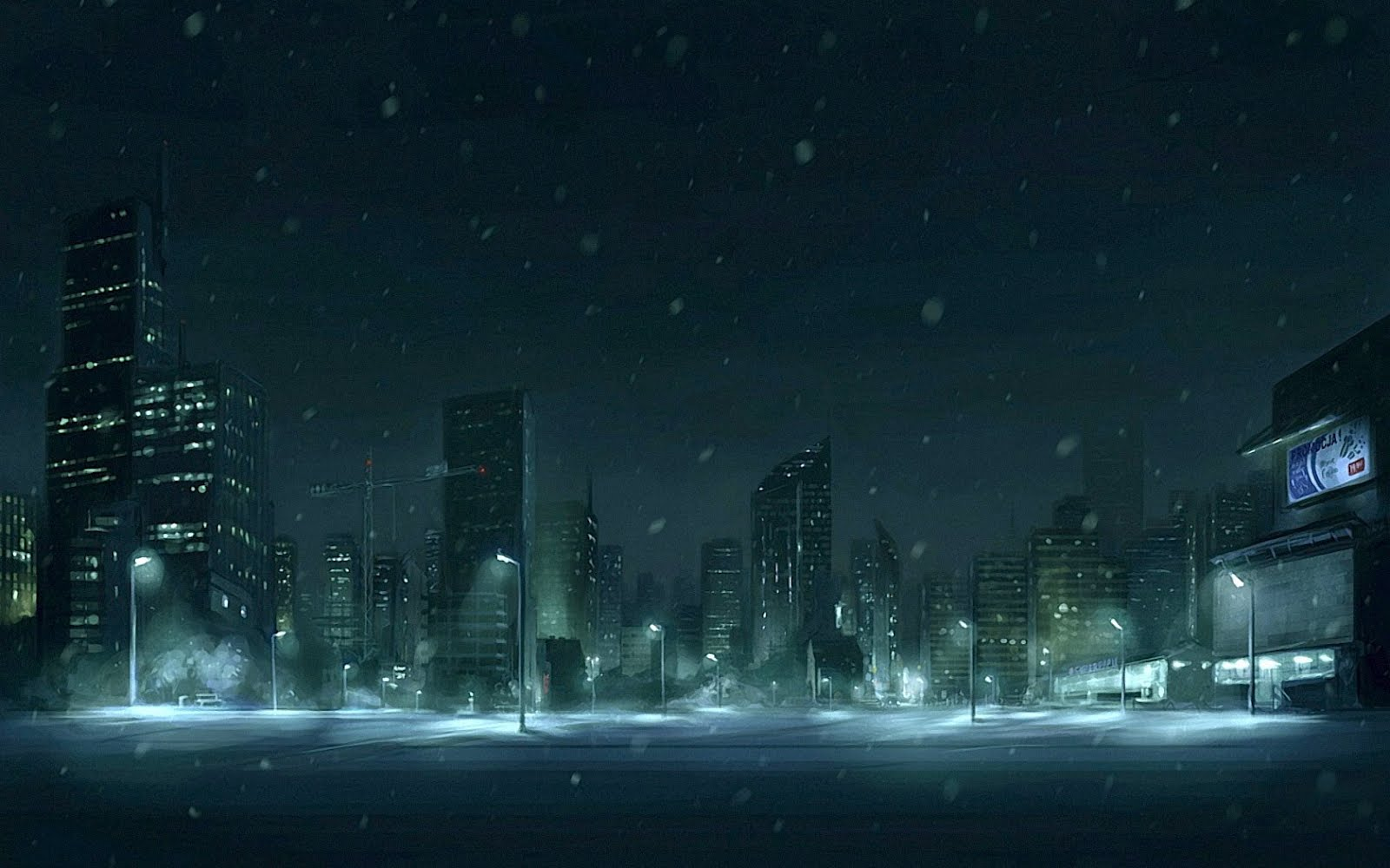 Beautiful places of the world - Snow night city wallpaper ...