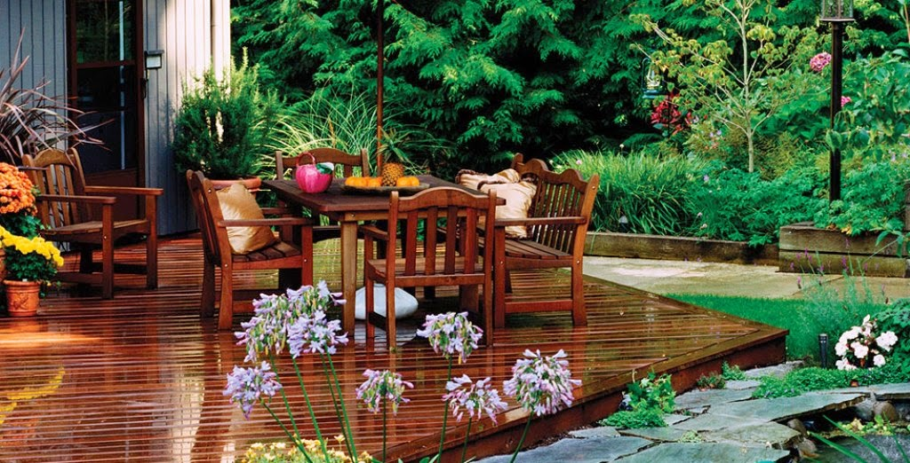 outdoor teakwood decor