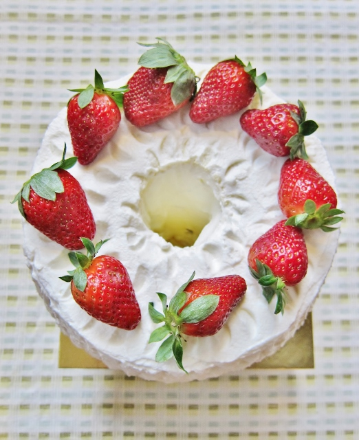 Strawberries & Cream Chiffon Cake from Nomsies Kitchen