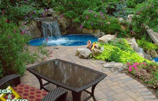 fotos de piscinas piscinas con cascada de agua