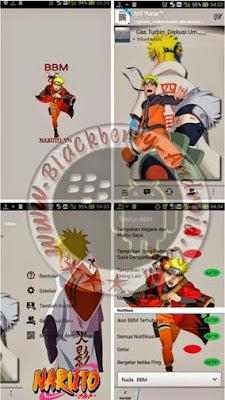 Free BBM MOD Thema Naruto Terbaru Versi 2.8.0.21