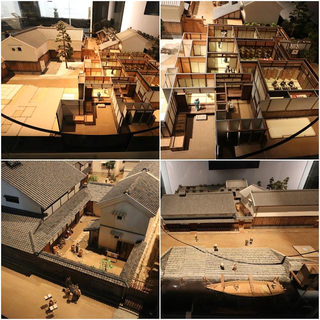 The model of fishing and port village at Museum of History in Osaka, Japan