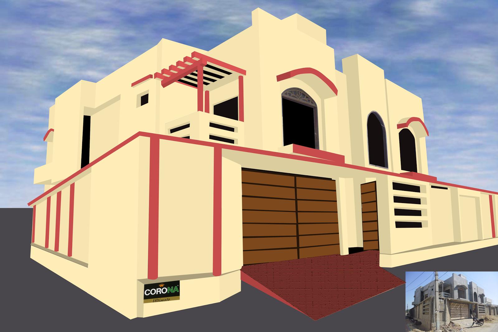 Paints Of Ideas: Beautiful Exterior House Colours Scheem By Corona ...