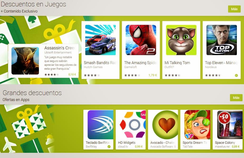 Juegos y aplicaciones con descuento en Google Play
