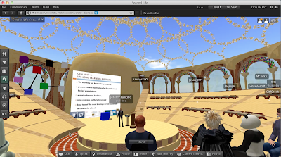 A virtual classroom in Second Life