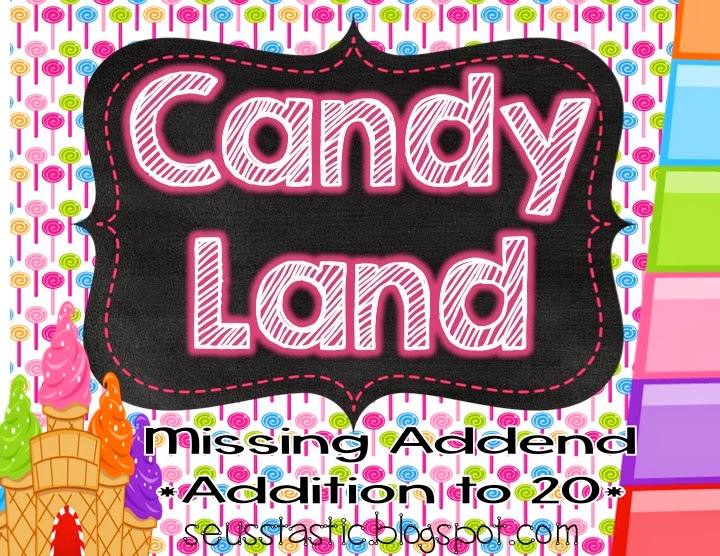 http://www.teacherspayteachers.com/Product/Candy-Land-Missing-Addend-Game-Addition-to-20-1339060