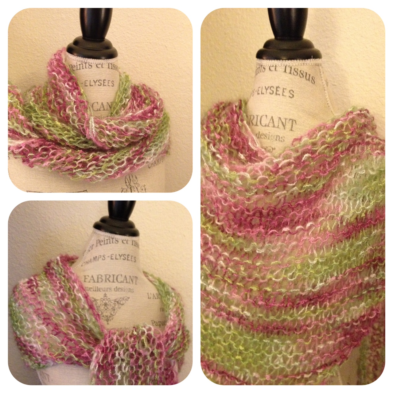 One Skein Knitting Patterns Free : Fiesta La Boheme Easy One-Skein Shawl   NobleKnits Knitting Blog