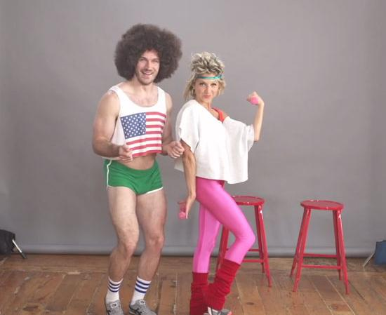 30 diy halloween costume ideas for couples do it yourself ideas 80s fitness duo solutioingenieria Images