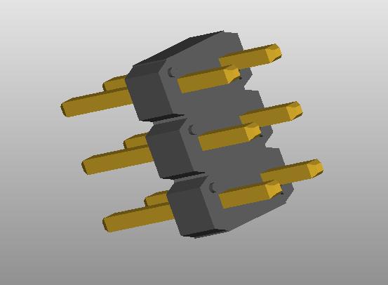 67996-406HLF FCI header 3D model