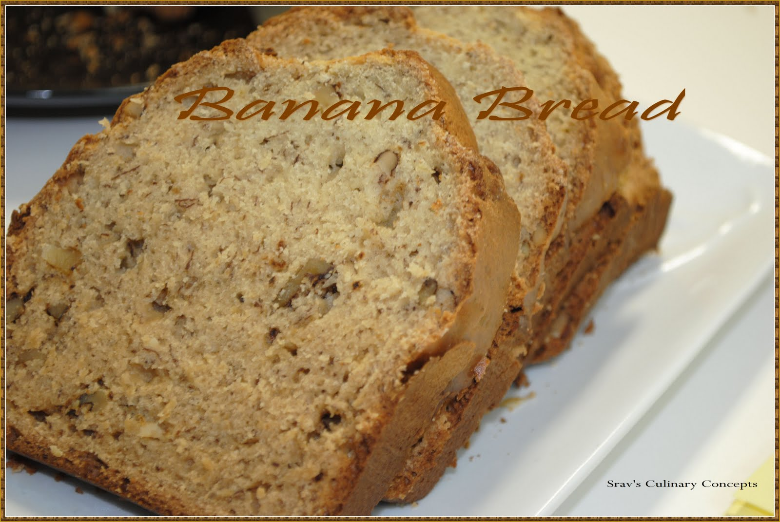 When we pull this banana bread from oven the golden brown crust is ...