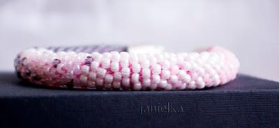 95. Biała i ombre letnie - koralikowe