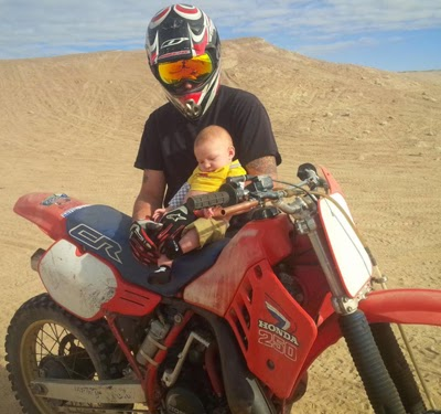 Reef Indy's first dirt bike experience.