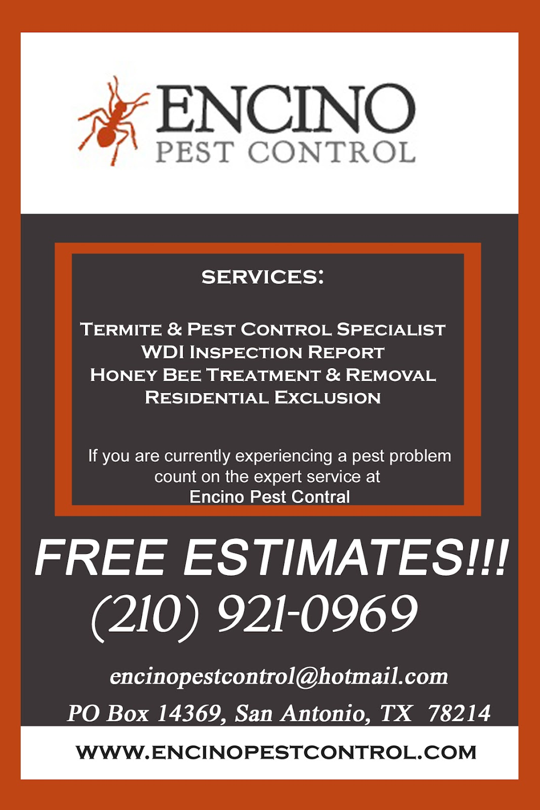 photo creations  4x6 flyer for pest control