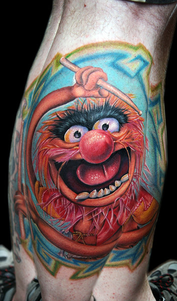 sesame street and the muppets tattoos the tattooed blog. Black Bedroom Furniture Sets. Home Design Ideas
