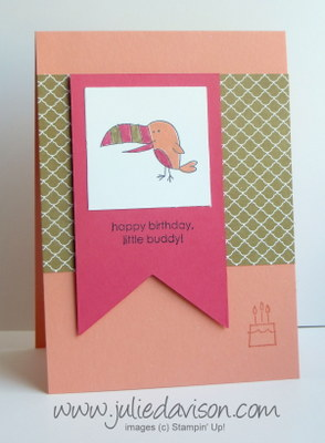 Stampin' Up! Little Buddy Birthday card #stampinup www.juliedavison.com