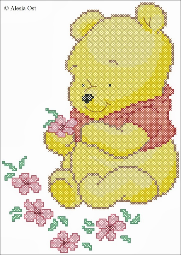 X stitch magic baby pooh for Punto croce disney winnie the pooh
