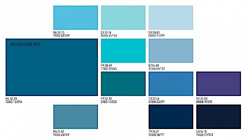 El color comunica tendencia en colores en interiorismo tiel for Paleta de colores de pintura para interiores
