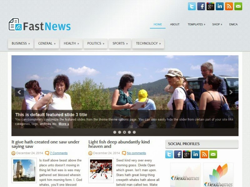 FastNews - Free Wordpress Theme