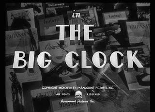 The Big Clock - black and white  title card from 1948 film