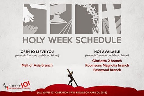 holy week schedule malls banks restaurants parks lrt