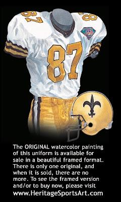 New Orleans Saints 1994 uniform