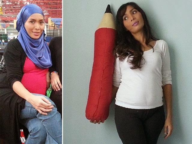 Hamil Anak Ke-3, Amyza Adnan Dengan Baby Bump!, info, terkini, hiburan, Amyza Adnan,