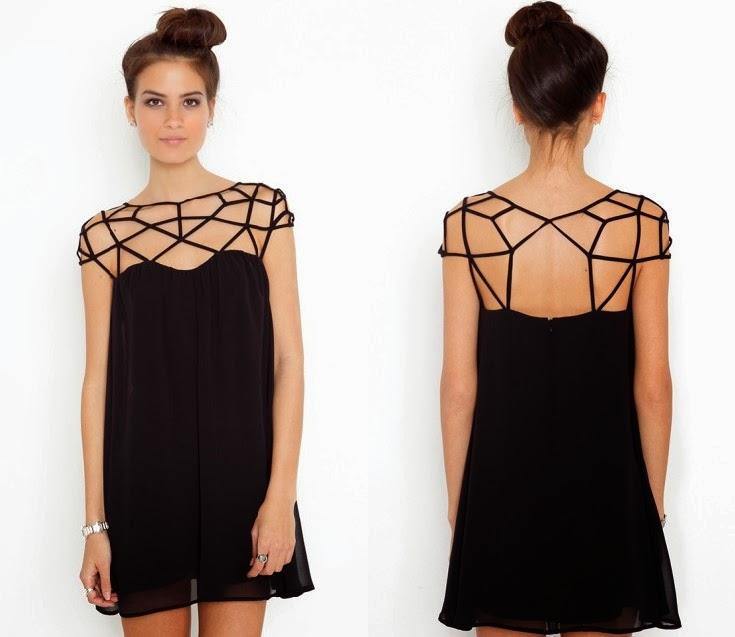 Летнее маленькое черное платье