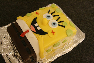 Picture of spongbob squarepants cake