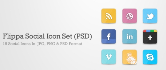 Flippa+Social+Icon+Set+PSD